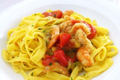 Tagliatelle with fish sauce